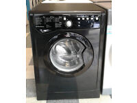 c027 black indesit 8kg 1200spin washing machine comes with warranty can be delivered or collected