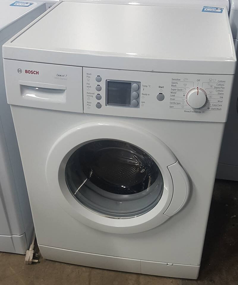 q318 white bosch 7kg 1400spin washing machine comes with warranty can be delivered or collected