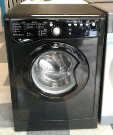 R027 black indesit 8kg 1200spin washing machine comes with warranty can be delivered or collected