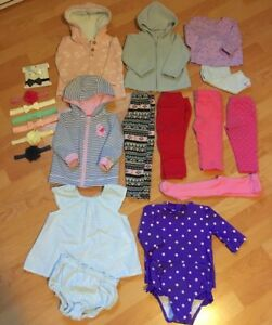 CARTERS/ OLD NAVY BABY GIRL CLOTHES (sizes 6-18 months)