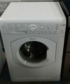 f768 white hotpoint 6kg 1200spin washing machine comes with warranty can be delivered or collected