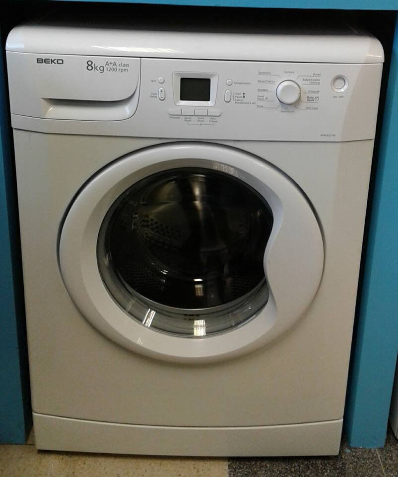 H079 white beko 8kg 1200spin A+A rated washing machine comes with warranty can be delivered