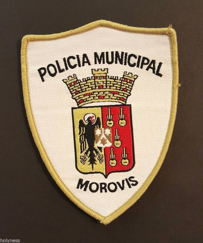 VINTAGE OBSOLETE PUERTO RICO POLICE PATCH / MOROVIS PR // RARE TYPE