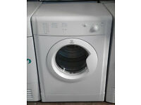 b607 white indesit 7kg B rated vented dryer comes with warranty can be delivered or collected