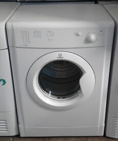 x607 white indesit 7kg B rated vented dryer comes with warranty can be delivered or collected