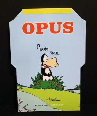 Rare Opus Penguin Fold & Mail Stationery Bloom County Berkeley Breathed 2006 -