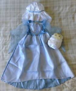 Girls-Mary-Outfit-Fancy-Dress-Up-Christmas-Nativity-School-Play-Costume-3-4yrs