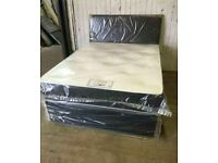 🔴🔵 BRAND NEW FULLY PACKED IN BOX✅💦 CASH ON DELIVERY🔴🔵 PLAIN FABRIC BED W MATTRESSESS 🔴