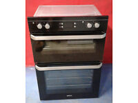b399 black beko double integrated oven comes with warranty can be delivered or collected