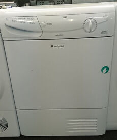n371 white hotpoint 7kg condenser dryer comes with warranty can be delivered or collected