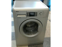 i006 silver beko 7kg 1600spin A++ washing machine comes with warranty can be delivered or collected