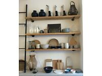 Now Sold Industrial Style Reclaimed Wood shelves x 3