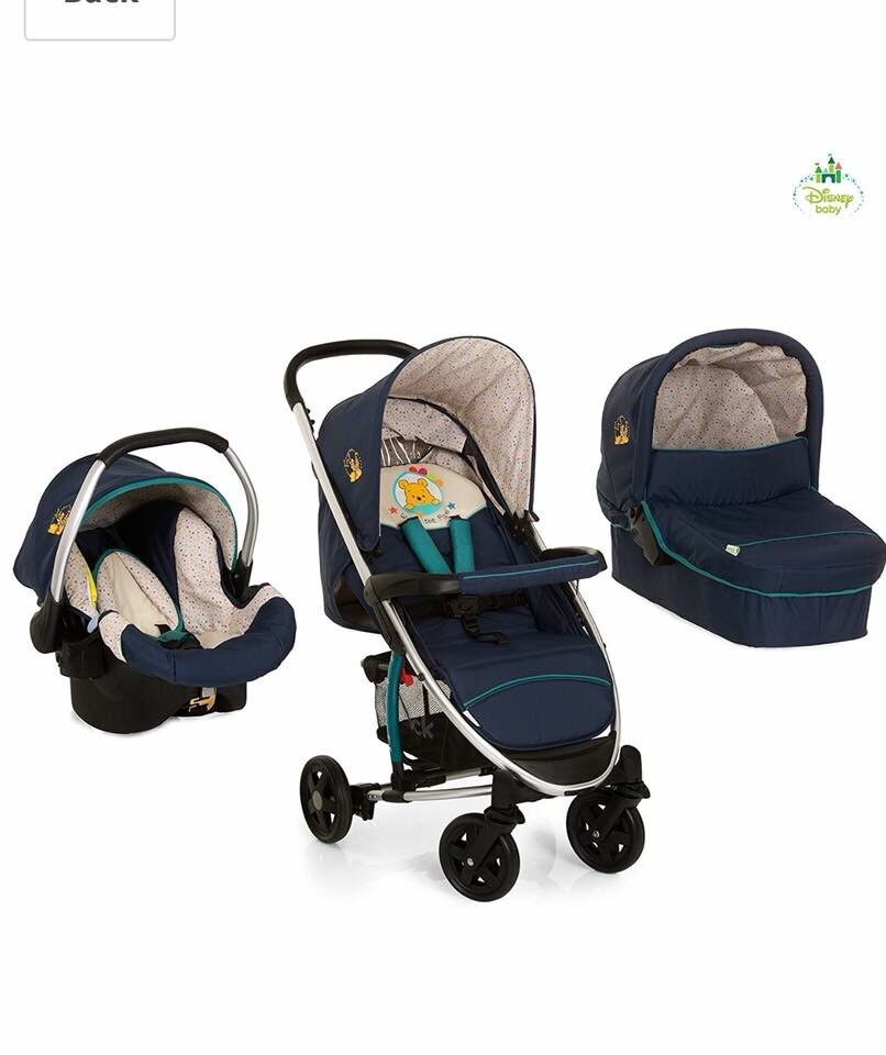 Winnie The Pooh Pram Carry Cot And Car Seat