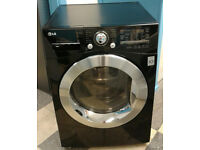 e322 black LG 8+6kg 1400 spin washer dryer comes with warranty can be delivered or collected