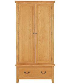 Heart of House Cheshire 2 Door 1 Drawer Wardrobe