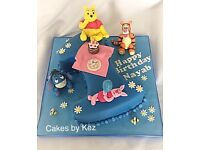 Bespoke cakes for all occasions. Fully registered and insured. 5* food and hygiene certificate.