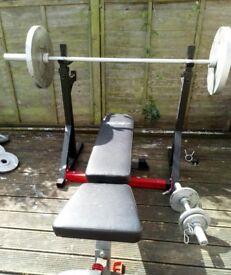 bench press & squat rack & Dumbbells & 120 kg