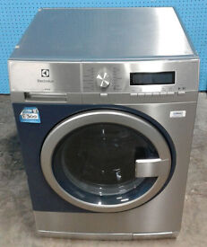 m287 stainless & blue electrolux 8kg 1400spin A+++ commercial washing machine comes with warranty