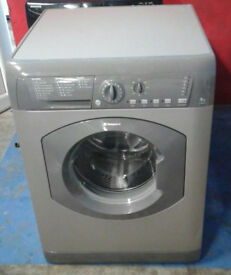 B109 graphite hotpoint 8kg 1500spin washing machine comes with warranty can be delivered