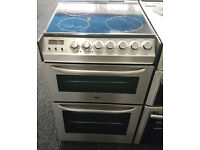 a280 stainless steel zanussi 55cm double oven ceramic electric cooker comes with warranty can be del