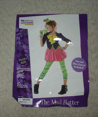 The Mad Hatter TWEEN Size X-Large 12 14 Halloween Costume Alice Wonderland](Mad Hatter Tween Halloween Costume)