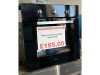 o487 black whirlpool single integrated electric oven new with manufacturers warranty can deliver