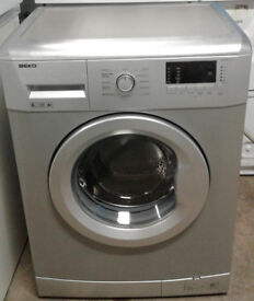 A247 silver beko 6kg 1400spin A+ rated washing machine comes with warranty can be delivered