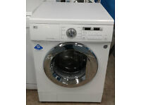 a512 white LG 8kg 1400spin washing machine comes with warranty can be delivered or collected