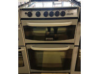 a438 black & silver cannon 55cm gas cooker comes with warranty can be delivered or collected