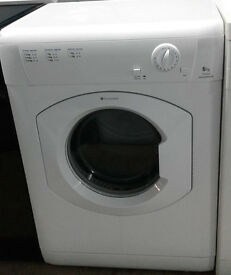 H659 white hotpoint 6kg vented dryer comes with warranty can be delivered or collected