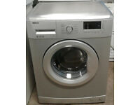 z247 silver beko 6kg 1400spin A+ rated washing machine comes with warranty can be delivered