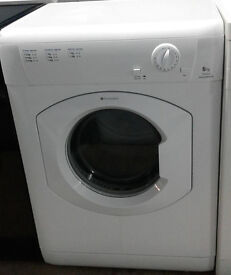 a659 white hotpoint 6kg vented dryer comes with warranty can be delivered or collected