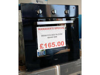 m487 black whirlpool single integrated electric oven new with manufacturers warranty can deliver