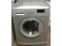 w247 silver beko 6kg 1400spin A+ rated washing machine comes with warranty can be delivered
