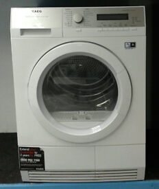 S239 white aeg 8kg A+ rated heat pump condenser dryer comes with warranty can be delivered