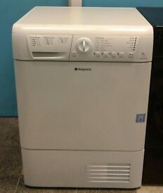 c020 white hotpoint 7kg condenser dryer comes with warranty can be delivered or collected