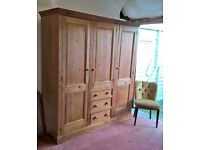 *FREE DELIVERY* Stunning Solid Pine Triple Wardrobe ~ Victorian Farmhouse Cottage (Shabby Chic oak)