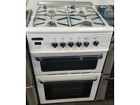 H163 white leisure alta 60cm gas cooker comes with warranty can be delivered or collected
