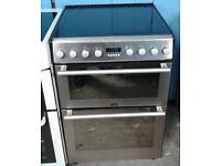 Z510 stainless steel stoves double oven ceramic hob electric cooker comes with warranty