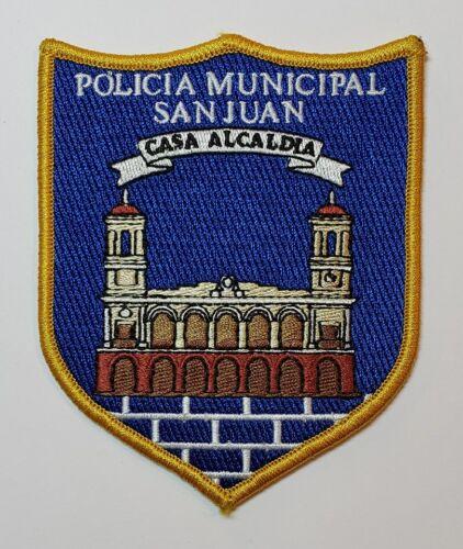 VINTAGE PUERTO RICO POLICE PATCH / POLICIA MUNICIPAL SAN JUAN CASA ALCALDIA
