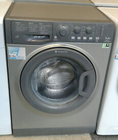 x274 graphite hotpoint 7kg 1400spin A+ rated washing machine comes with warranty can be delivered