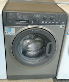o274 graphite hotpoint 7kg 1400spin A+ rated washing machine comes with warranty can be delivered