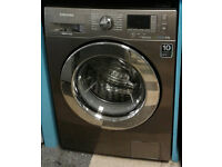 O196 silver samsung 8kg 1400spin washing machine comes with warranty can be delivered or collected
