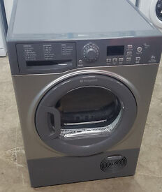 n336 graphite hotpoint 8kg condenser dryer comes with warranty can be delivered or collected