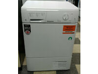 243 white hotpoint 7kg condenser dryer comes with warranty can be delivered or collected