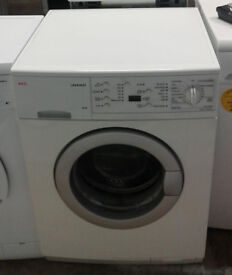 m667 white aeg 7kg 1200spin washing machine comes with warranty can be delivered or collected