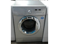 b457 silver LG 7.5kg 1400spin washing machine comes with warranty can be delivered or collected