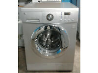a514 silver LG 8kg 1200spin washing machine comes with warranty can be delivered or collected