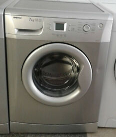 D706 silver beko 7kg 1400 spin washing machine comes with warranty can be delivered or collected