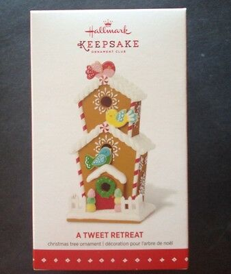 Hallmark 2015 A TWEET RETREAT KOC Member Exclusive GINGERBREAD BIRDHOUSE MIB